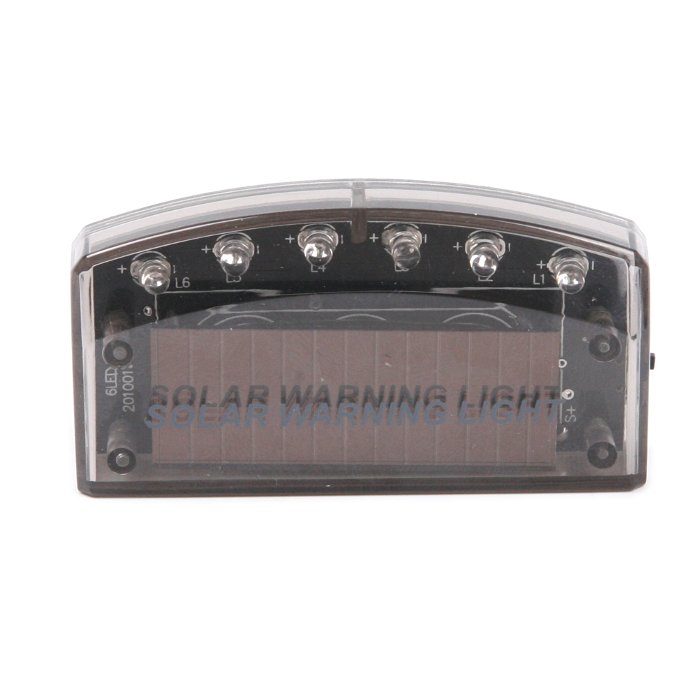 security-6-LED-Solar-power-Motion-Vibration-Sensor-Flash-car-Truck-warning-light